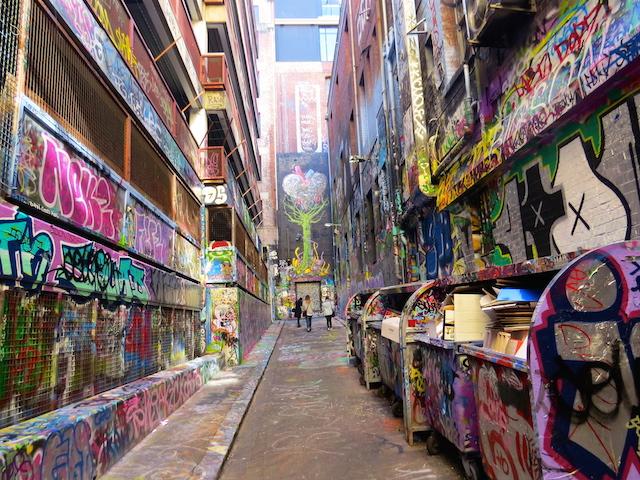 Hosier Lane (near Flinders Lane, Melbourne CBD)